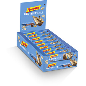 PowerBar Protein Nut2 Riegel Box Milk Chocolate Peanut 18 x 2 x 30g